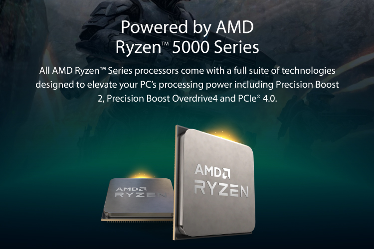 Powered by AMD Ryzen Series